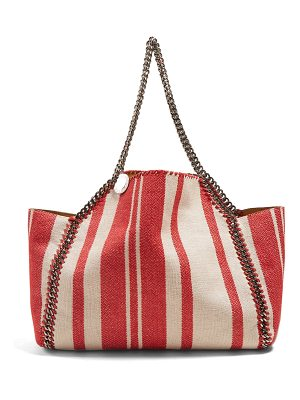Stella McCartney Falabella small striped tote
