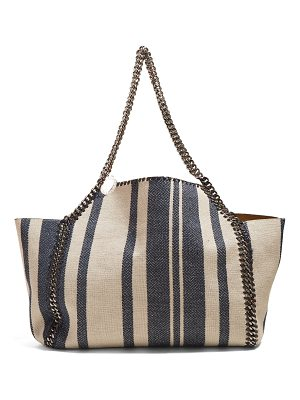 Stella McCartney Falabella striped small tote