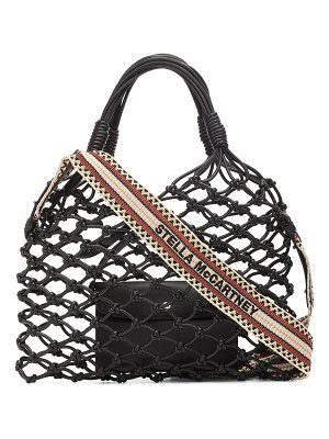 Stella McCartney faux-leather net tote