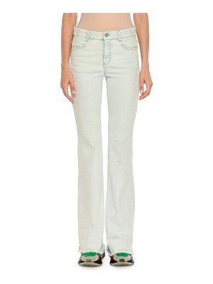 Stella McCartney Frayed Light-Wash Denim Jeans