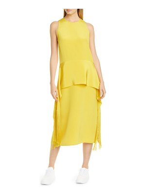 Stella McCartney fringe hem silk midi dress