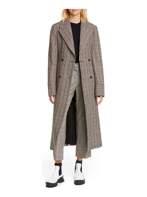 Stella McCartney glen plaid double breasted wool coat