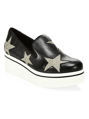 Stella McCartney glitter embroidered star patch sneakers