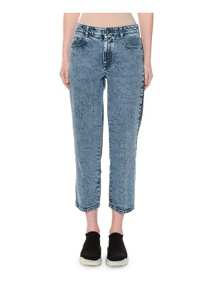 Stella McCartney High-Rise Straight-Leg Two-Tone Cropped Jeans