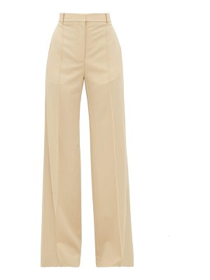 Stella McCartney high rise tailored wool wide leg trousers
