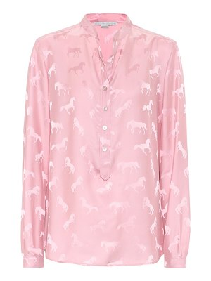 Stella McCartney horse-jacquard blouse