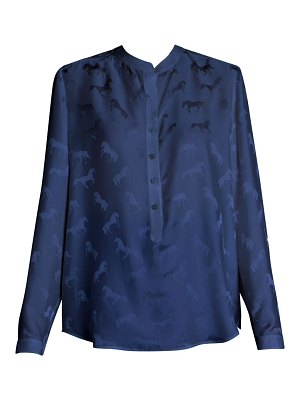 Stella McCartney horse-print satin blouse