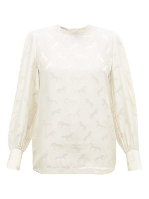 Stella McCartney horse silk-jacquard blouse