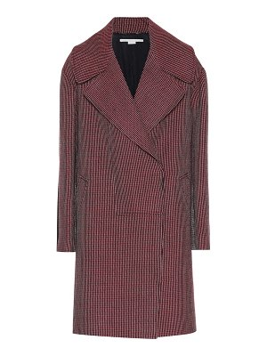 Stella McCartney houndstooth check wool coat