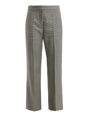 Stella McCartney houndstooth pleated wool trousers