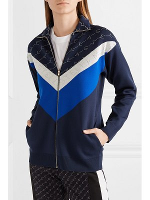 Stella McCartney intarsia stretch-knit track jacket