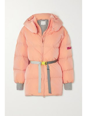 Stella McCartney kayla belted hooded quilted shell coat