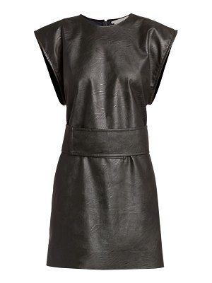 Stella McCartney kimberly vegan leather shift dress