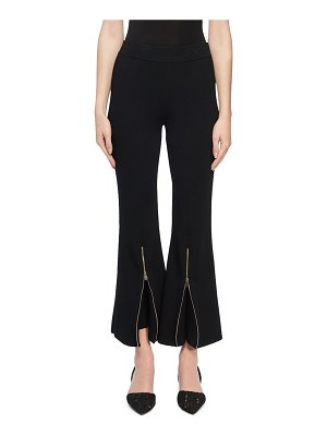 Stella McCartney Knit Zip-Flare Trousers