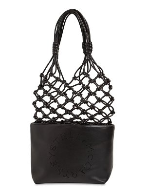 Stella McCartney Knotted faux leather tote bag