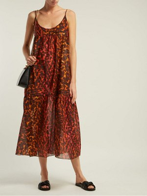 Stella McCartney leopard print cotton and silk blend dress