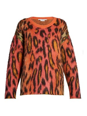 Stella McCartney leopard print mohair sweater