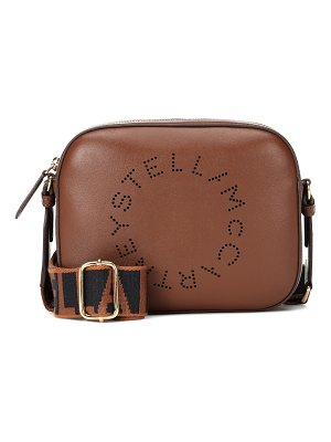 Stella McCartney logo faux leather shoulder bag
