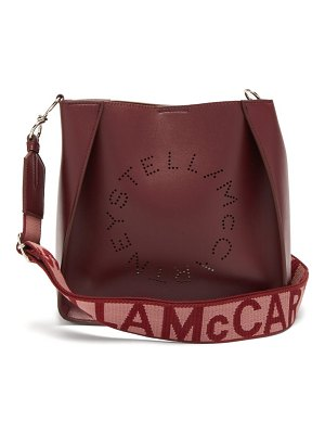 Stella McCartney logo strap faux leather cross body bag