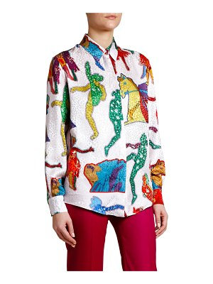 Stella McCartney Lucy in The Sky Jacquard Shirt
