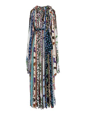 Stella McCartney mara patchwork illusion ribbon maxi dress
