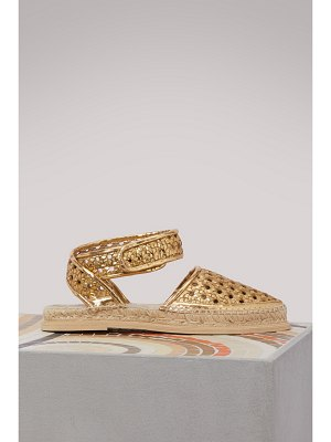 Stella McCartney Metallic flat sandals