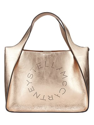 Stella McCartney Metallic Logo Crossbody Bag