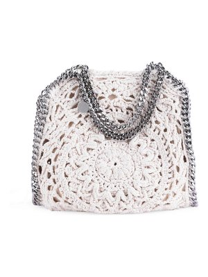 Stella McCartney mini falabella floral crochet tote