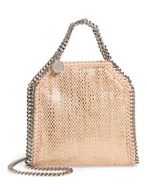 Stella McCartney mini falabella metallic chenille shoulder bag