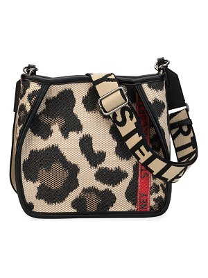 Stella McCartney Mini Leopard Logo Crossbody Bag
