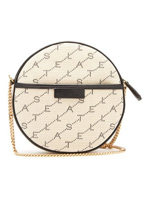 Stella McCartney mini round monogram canvas cross body bag
