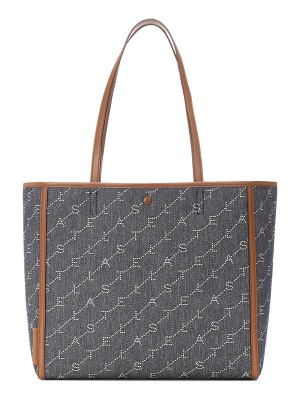 Stella McCartney monogram medium denim tote