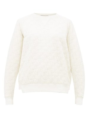 Stella McCartney monogram quilted cotton sweatshirt