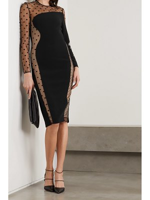 Stella McCartney net sustain arielle cady and embroidered tulle dress