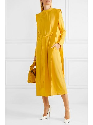 Stella McCartney net sustain belted cady midi dress
