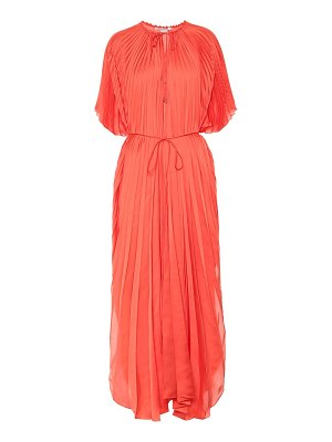 Stella McCartney nowra pleated satin maxi dress