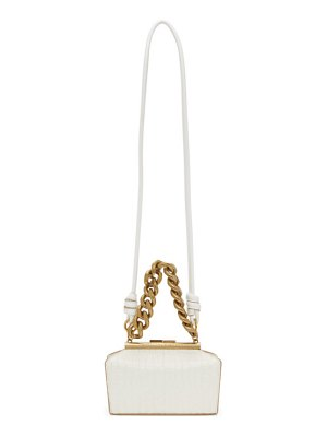 Stella McCartney off-white croc small chunky chain bag