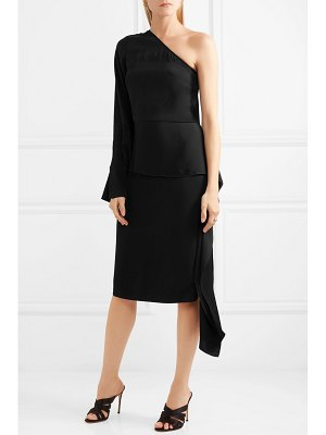 Stella McCartney one-shoulder satin midi dress