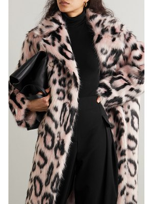 Stella McCartney oversized double-breasted leopard-print faux fur coat