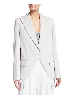 Stella McCartney Oversized Wool Twill Peak-Lapel Tuxedo Jacket