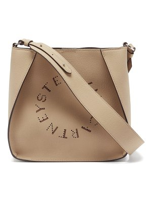 Stella McCartney perforated logo faux-leather cross-body bag