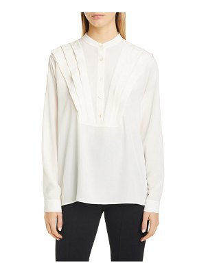 Stella McCartney pleated bib silk shirt