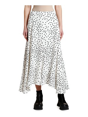 Stella McCartney Polka Dot Cady Midi Skirt