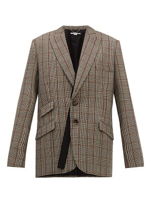 Stella McCartney double breasted prince of wales check wool blazer