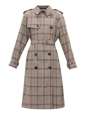 Stella McCartney prince of wales check wool trench coat