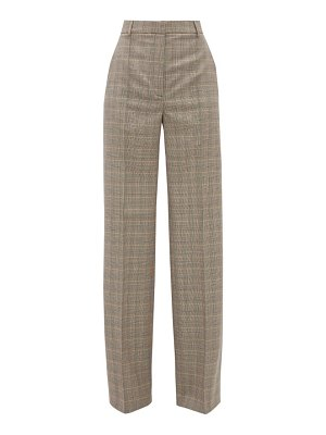 Stella McCartney prince of wales check wool wide leg trousers