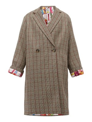 Stella McCartney prince of wales checked double breasted wool coat
