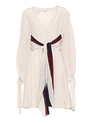 Stella McCartney Printed silk minidress