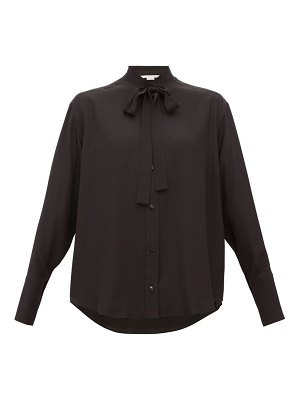 Stella McCartney pussy bow silk blouse