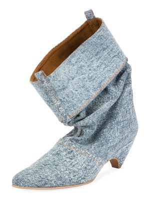 Stella McCartney Runway Denim Scrunched Boot
